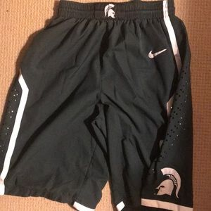 Michigan State Authentic Nike Basketball Shorts